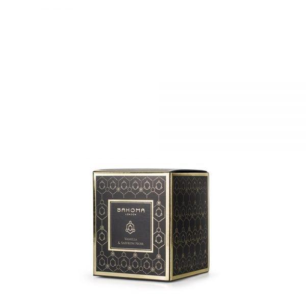 Vanilla & Saffron Noir Fragranced Candle