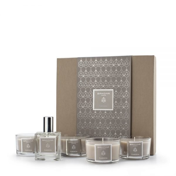 Set of 4 Fragranced Candles and 50ml Room Spray